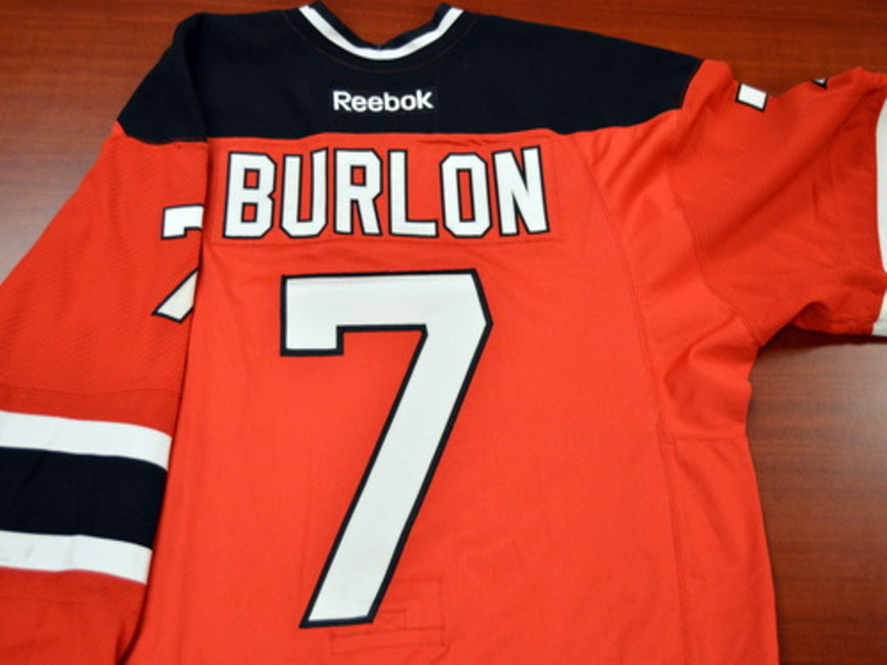 Game worn - #7 Brandon Burlon (Away)