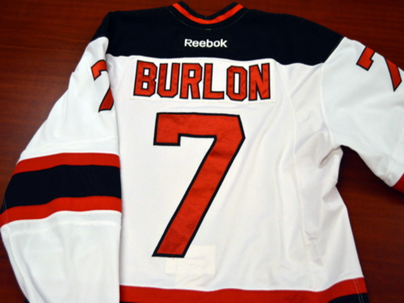 Game worn - #7 Brandon Burlon (Home)