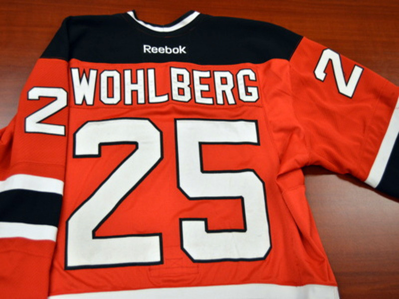 Game worn - #25 David Wohlberg (Away)