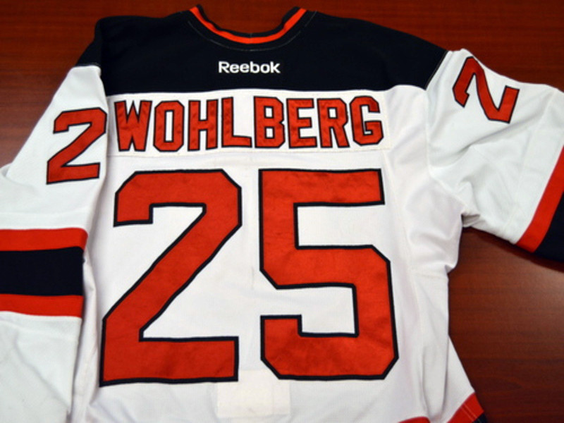 Game worn - #25 David Wohlberg (Home)