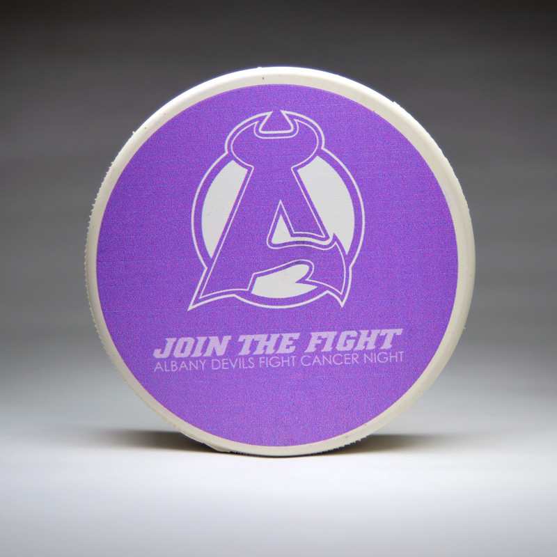 Albany Devils Fight Cancer Autographed Pucks