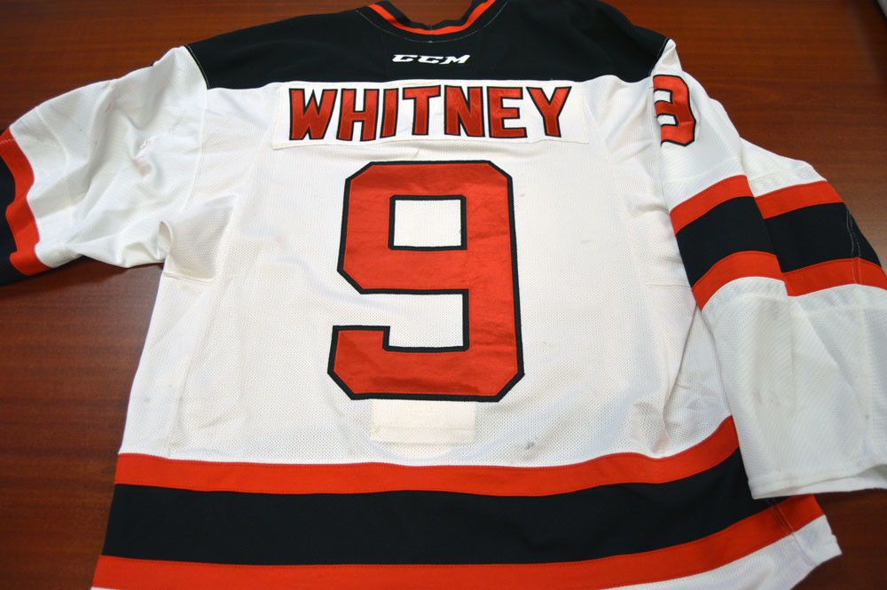 Game Worn - #9 Joe Whitney (Home)