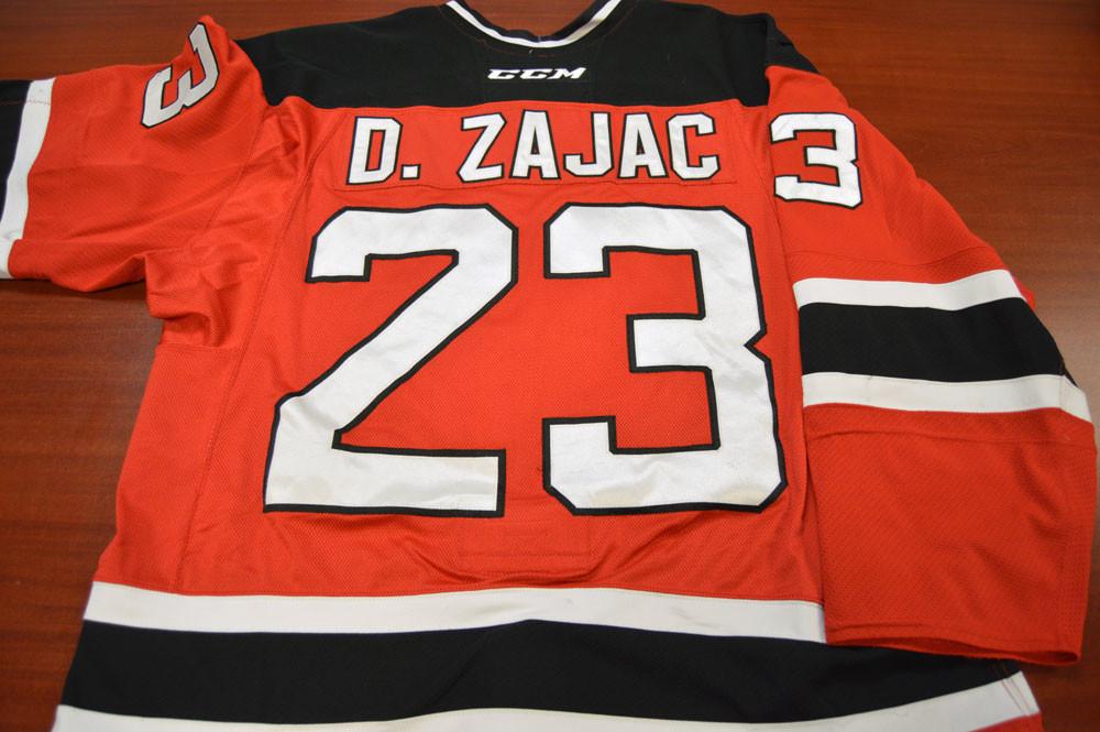 Game Worn - #23 Darcy Zajac (Away)