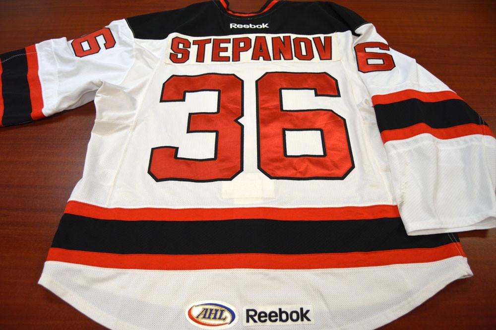 Game Worn - #36 Stefan Stepanov (Home)