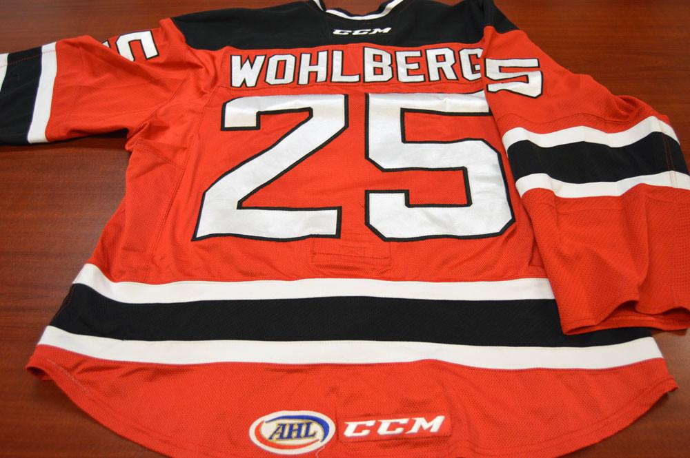 Game Worn - #25 David Wohlberg (Away)