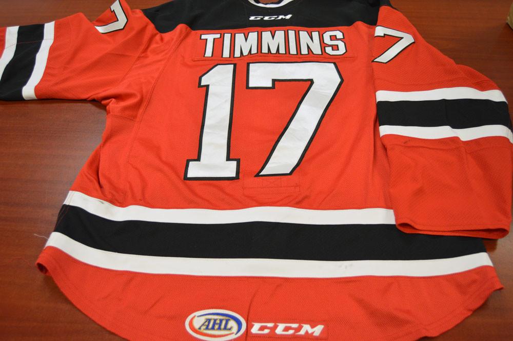 Game Worn - #17 Scott Timmins (Away)