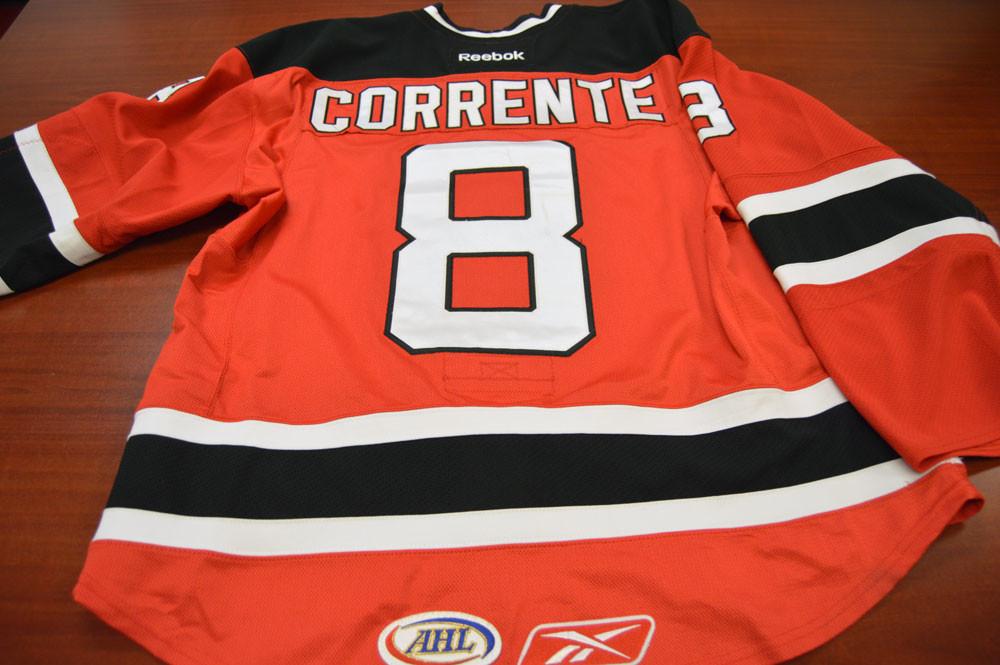 Game Worn - #8 Matt Corrente (Away)