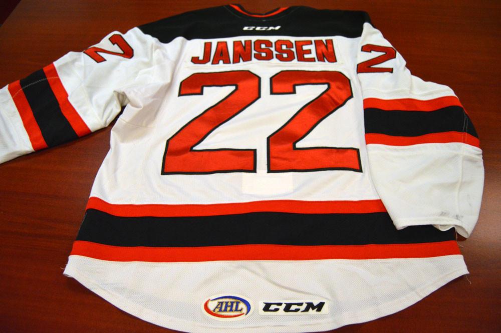Game Worn - #22 Cam Janssen (Home)